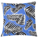 Babassu cushion cover 50 x 50 cm, blue - black - off white