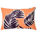 Babassu cushion cover 40 x 60 cm, orange - purple - yellow