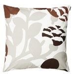 Green Green cushion cover, grey - coral