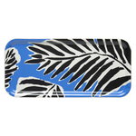 Babassu tray, blue - black - off white