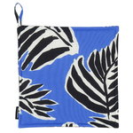Babassu pot holder, blue - black - off white