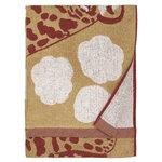 Marimekko Kaksoset kylpypyyhe, beige - viininpunainen