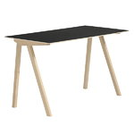 CPH90 desk, matt lacquered oak - black lino