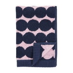 Räsymatto guest towel, pink - dark blue