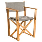 Kryss lounge chair, teak - dark grey