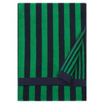 Kaksi Raitaa bath towel, dark blue - green