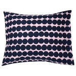 Räsymatto pillowcase, pink - dark blue