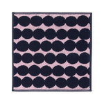 Räsymatto mini towel, pink - dark blue