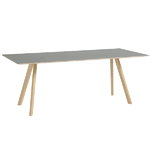 CPH30 table 200x90 cm, matt lacquered oak - grey lino