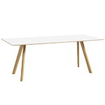 Hay CPH30 table 200x80 cm, lacquered oak - white laminate