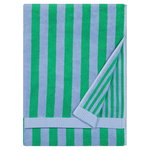 Kaksi Raitaa bath towel,  light blue - green