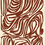Marimekko Jokuraita puuvilla-pellavakangas, pellava - ruskea