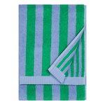 Asciugamano Kaksi Raitaa, celeste - verde