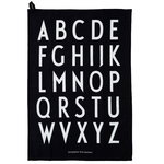 Design Letters Classic tea towel, set of 2, black