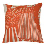 Siirtolapuutarha cushion cover 40 x 40 cm, linen - orange