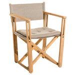Kryss lounge chair, teak - beige