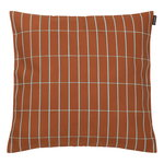 Pieni Tiiliskivi cushion cover, 40 x 40 cm, reddish brown - turq