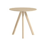 CPH20 round table 50 cm, matt lacquered oak