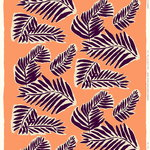Marimekko Babassu fabric, orange - purple - yellow