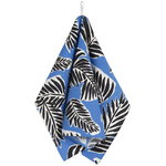 Babassu tea towel, blue - black - off white