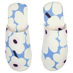 Unikko slippers,  light blue - off white - plum