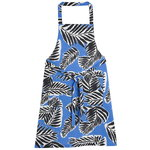 Babassu apron, blue - black - off white