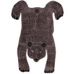 Bear rug, dark brown