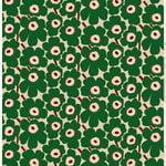 Pieni Unikko kangas, beige - vihreä - persikka