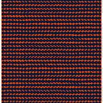 Tessuto in cotone/lino Räsymatto, arancione - blu scuro