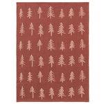 Christmas tea towel, cinnamon
