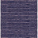 Marimekko Räsymatto fabric, pink - dark blue