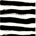 Tuubiraita fabric, off white - black
