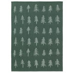 Christmas tea towel, dark green
