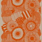 Siirtolapuutarha linen fabric, linen - orange