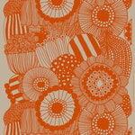 Marimekko Tessuto in lino Siirtolapuutarha, lino - arancione