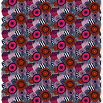 Pieni Siirtolapuutarha fabric, white-red-dark blue