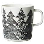 Oiva - Kuusikossa mug 4 dl, black - white
