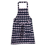 Räsymatto apron, pink - dark blue
