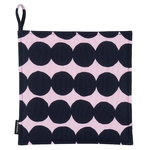Räsymatto pot holder, pink - dark blue