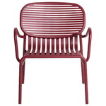 Week-end lounge chair, burgundy