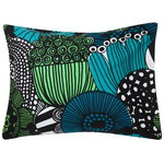 Siirtolapuutarha pillowcase , white-green-black