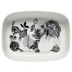 Oiva - Siirtolapuutarha serving dish, white-black
