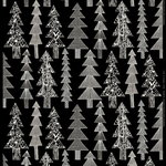 Kuusikossa cotton panama fabric, black - white