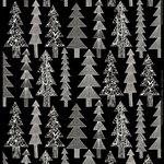 Tessuto in panama di cotone Kuusikossa, nero -bianco