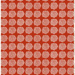 Marimekko Puketti coated fabric, red - dark blue - white