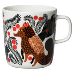 Oiva - Ketunmarja mug 4 dl,  white - brown - black