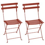 Bistro Metal chair, 2 pcs, red ochra