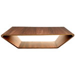 Brasilia table, walnut