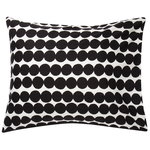 Räsymatto pillowcase, white - black