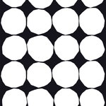 Kivet fabric, black-white